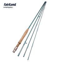 Wholesale Stainless Ring Fishing Rod - Fairiland 4 sections 9ft 2.7M 3 4# Fly Fishing Rod 114g 4oz Carbon Saltwater Freshwater Fly Rod w  Stainless Steel Guide Ring