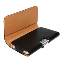 Wholesale Wholesale Plain Cell Phone Cases - For iPhone7 Leather Case Pouch Clip Belt PU For Iphone 7 6 6s Plus Cell Phone Bag Lychee Grain Plain Holster