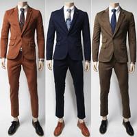 Wholesale Slim Fit Business Suits - Plus Size Men Personalize Blazer Suits Slim Fit Office Men Blazer Single Breasted Cotton Stand Collar Men Novelty Business Suit J160201