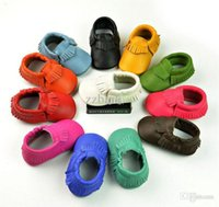 Wholesale Crochet Cow Boy - Genuine Leather Baby Moccasins Newborn Boy Baby Shoes Baby Girl Moccs First Walkers Toddler Shoes Chaussure Bebe Sapatos A00132
