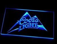 Wholesale Coors Light Neon Beer Signs - b-18 Coors Light Beer Bar Pub Logo LED Neon Light Sign