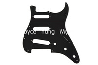 Wholesale Strat Pickguard Ply - New Black 1 PLY Electric Guitar Pickguard For Fender Strat Style Electric Guitar Free Shipping Wholesales