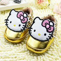 Wholesale leopard print toddler shoes - 2015 Autumn New Baby First Walker Shoes Infant Toddler Soft Bottom ShoesCartoon Leopard Grain Design Fit 0-2 Age Baby CD265