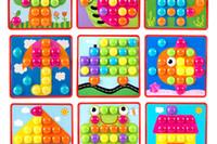 kinderkunstinstallationssätze großhandel-Großhandels- kreatives Mosaik-Spielzeug-Geschenk-Kind-Nagel-zusammengesetztes Bild ceative Mosaik-Pilz-Nagel-Ausrüstungs-Puzzlespiel spielt Knopf Art