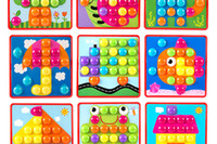 Wholesale picture puzzles - Wholesale- Creative Mosaic Toy Gifts Children Nail Composite Picture ceative Mosaic Mushroom Nail Kit Puzzle Toys button art