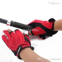 Wholesale Skidproof Clothes - 1 Pair ANTI-SLIP 3 Low Fingers Fishing Gloves Clothing Luvas Sport Skidproof