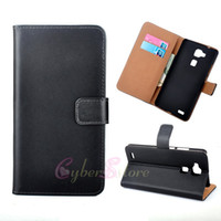 Wholesale Huawei Ascend Mate Flip - For Huawei Ascend Mate 7 Genuine Real Wallet Leather Case Flip ID Credit Card Holder Stand Cover For mate7