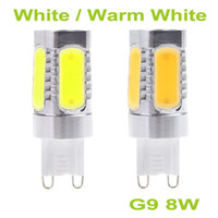 Wholesale g9 lamp socket for sale - Group buy New Arrival Long Lifespan Lm V G9 Socket W COB LED Light Bulb Lamp White and Warm White For Ceiling light