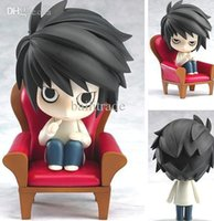 Wholesale Set Pvc Death Note - Wholesale-FREE SHIPPING Japanese Animation COOL Japanese Amine Death Note L Lawliet 10cm 4'' Figure Box Set