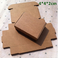 Wholesale Wholesale Boxes For Cookies - Small 4*4*2cm Kraft Paper Box Gift Box for Jewelry Pearl Candy Handmade Soap Baking Box Bakery Cake Cookies Chocolate Package Packing Box