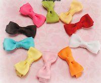 Wholesale cheap hair bows wholesale - 10% OFF cheap wholesale 2.5 inch 300pcs Lot Kids Girls Ribbon bow Headwear Baby Hair Clip Children Hair Bows Ribbon Flower Accessories
