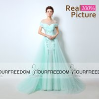 Wholesale Embroidery Cocktail Dresses Beads - LX054 Mint Green Long Evening Dresses 2016 Arabic Sheer Jewel Neck Tulle Cutaway Sides Beaded Embroidery Long Special Occasion Party Gown