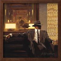 panel de brillo al por mayor-pinturas de arte contemporáneo de Brent Lynch Amber Glow Man pintado a mano al óleo sobre lienzo de alta calidad