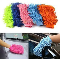Wholesale Wholesale Chenille Microfiber Mitt - 200pcs Car Wash Glove,Microfiber Chenille car cleaning cloth, chenille car cleaning glove mitt