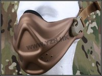 Wholesale Neoprene Hard Mask - Wholesale-Neoprene Hard Foam Mask airsoft painball wargame face protector EM6629C Coyote brown