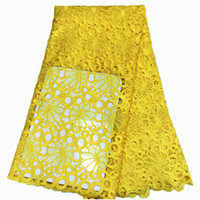 Wholesale african yellow lace fabric - High quality african lace fabrics guipure lace fabrics cord samples, africa Yellow cord lace