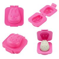 Wholesale Sandwich Maker Cartoon - Cute Cartoon Shaped Egg Mould Tool Plastic Rabbit Bento Maker Sandwich Cutter Food Funny Decor