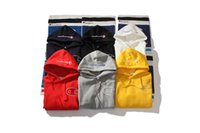 Wholesale Grey Loose Sweater - Champi ons Pullover Hoodies Embroidered Logo Fleece Blue White Grey Pink Round Neck Plush lined Hooded Sweater Size M-XXL