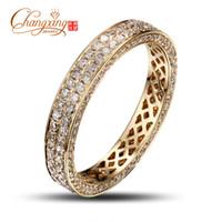 Wholesale Natural Diamond Rings Solid Gold - Wholesale-Solid 14K Gold Natural 1.25ct Pave Set Diamond Engagement Ring Wedding Band