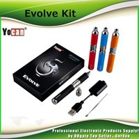 Wholesale Wholesale Ecig Coils - 100% Authentic Yocan Evolve Starter Kit 650mah Quartz Dual Coils Wax vaporizer Pen Kit 5 Colors Vape Pens Ecig Kits DHL Free 2204020