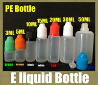 Wholesale E Liquid Filled Bottles - liquid bottle e cigarette e-liquid filling bottle oil 50ml plastic empty bottle e juice 3ml 15ml 30ml 10ml for e cig FJ059