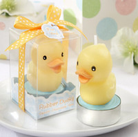 Wholesale wedding gifts favors candles resale online - 2015 Candle Favors Birthday candles Creative rhubarb duck Wedding little duck candle smoke free Birthday Gifts Wed Supplies
