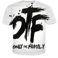Wholesale Mens Tie Dyed T Shirts - Wholesale-YNM hot sale 3d letter tie-dye OTF T-shirt harajuku mens t-shirts casual unisex tops tees hip hop tee-shirt camisetas 2 colors