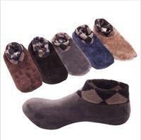 Wholesale Ankle Skid Socks - Socks Men Floor Indoor Socks Women Winter Skid Proof Coral Velvet Stockings Vintage Fashion Thick Warm Hosiery Boot Socks Leg Warmers B3633