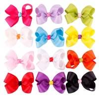 Wholesale Sunshine Baby Wholesale - Fashion Baby Girls Cake Color Sunshine Cute Hair Clips Kids Solid Grosgrain Hairclips Bow Hairband Beautiful Cute Accessories