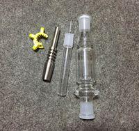 chéri de qualité achat en gros de-Bubbler Percolators Honey Bong en verre de paille avec 14mm Titanium Nail Nectar Collector Kit certainement qualité