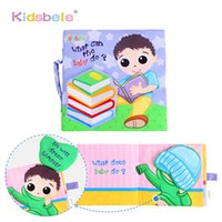 Commercio all'ingrosso- Giocattoli educativi per bambini Libro di stoffa Sviluppo dell'intelletto Kids Soft Rattle Toys Early Learning Book Toys For Infant