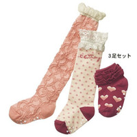 Wholesale Wholesale Per Pair - Fashion Style Pink Color Girls Long Socks Medium And Short Socks 12 Pair Per Lot