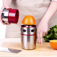 Wholesale Juice Bottles Supplies - Stainless Steel Manual Juicer Hand Press Juice Bottle Portable Mini Travel Small Fruit Squeezer Machine Cup Household Supplies