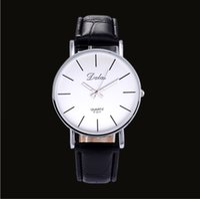 Wholesale Dalas Watches - New Relojes Simple Style Dalas Brand Watch Unisex Quartz Leather Men Wrist watch Women Ladies Wristwatch mujer 3 color clock
