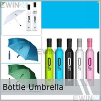 Wholesale Red Wine Bottle Umbrella - New and High Quality Red Wine Bottle Umbrella Folding Umbrella Sunshade Wholesale Gift For Outdoor Camping