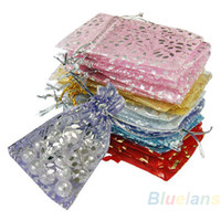 Wholesale Organza 3x4 - Wholesale-25pcs set Organza Jewelry Wedding Gift Pouch Bags 7x9cm 3X4 Inch Mix Color for Party Holiday New Year Use 02IP 2SHW