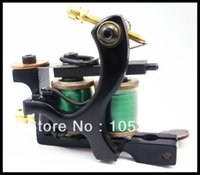 Wholesale Coil S Tattoo - Wholesale-Best High Performance Black Wire Cutting IronTattoo Machine 175 Dual 10 Wrap Coils for Tattoo L&S Machine Supplies Free
