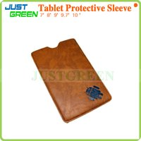 Wholesale Leather Sleeve For Tablet Pc - 7  8  9  9.7  10 inch Flip Leather Case Stand Cover Inline Case Protective Case For Android Tablet PC