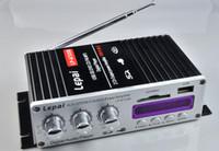 Wholesale Audio Stereo Amplifier 12v - Lepai LP-A7USB Mini Super Bass Stereo Car Amplifier audio Amplifier USB DVD CD with FM MP3 USB Mini Super Bass Stereo 501022
