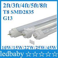 3ft led röhrenlampe großhandel-LED-Röhren G13 2ft 3ft 4ft 5ft 8ft Füße T8 1200mm Röhre Lampe AC85-265V SMD2835 LED-Leuchten Super Bright CE ROHS UL