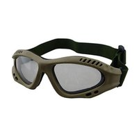 Wholesale Goggle Paintball - Wholesale-Free shipping Outdoor Sports Tactical Glasses Motorcycle Hunting Airsoft Paintball Wargame Windproof Nylon Goggles