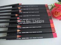 Wholesale Lip Liner Crayon Levres - Colorful makeup lipliner 9pcs new lip liner pencil crayon a levres 1.45g FREE SHIPPING