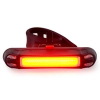 Wholesale Led Cycle Helmets - NEW LED Bike Bicycle Cycling Front Rear Tail light Helmet Lamp USB Rechargeable Handlebar Frame tube Flashing 6 Mod lights 800724