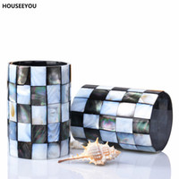 Wholesale bathroom tumblers for sale - Group buy Eco Friendly Resin Bathroom Accessories Set Black Butterfly Shells Soap Dispenser Toothbrush Holder Tumbler Soap Dish Set