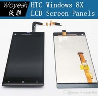 Wholesale Windows 8x - For HTC Windows Phone 8X C620E LCD Display With Touch Screen Digitizer Black Color Free Shipping