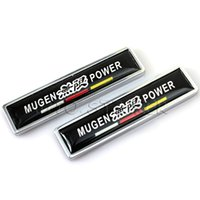 Wholesale Emblem Honda - Car Styling Metal Mugen Power Sticker Emblem Decal Car Door Sticker For Honda Accord Civic FIT City Odyssey Stream