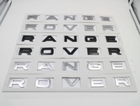 Wholesale Wholesale Range Hoods - For Range Rover Badge Letters Logo Emblem Hood Rear Trunk Tailgate Emblem Sticker Styling Auto Accessories High quality
