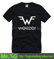 Wholesale Punk Emo Bands - 100% Cotton New casualhot selling summer WEEZER Emo Power pop punk band couple clothes man men male plus size T-shirt