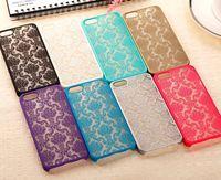 Wholesale translucent plastic iphone case - Vintage Damask Mandala Datura Henna Flower Matte Hard Plastic PC Translucent Case Cover For Apple iPhone 5 5S 6 Plus 6plus iPhone6