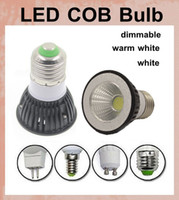 Wholesale Dimmable Globe Mr16 Led - COB led lights dimmable led lighting bulbs led bulb housing globe dome led work lamp light led spotlight e27 e14 gu10 mr16 gu5.3 base DB004